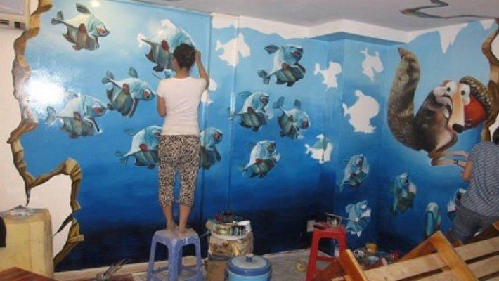 Sơn nước vẽ tường- Vì sao sơn nước vẽ tường lại được gia chủ ưa thích đến vậy?