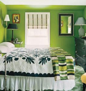 sơn tường nhà màu xanh2