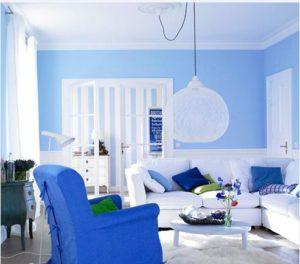 sơn tường nhà màu xanh3