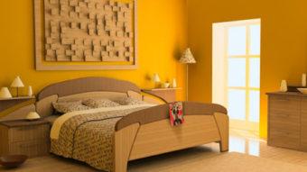 Sơn phòng ngủ màu vàng – Đơn giản nhưng sang trọng hiện đại