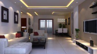 Màu sơn phòng khách nhà ống – Kích thích không gian rộng mở