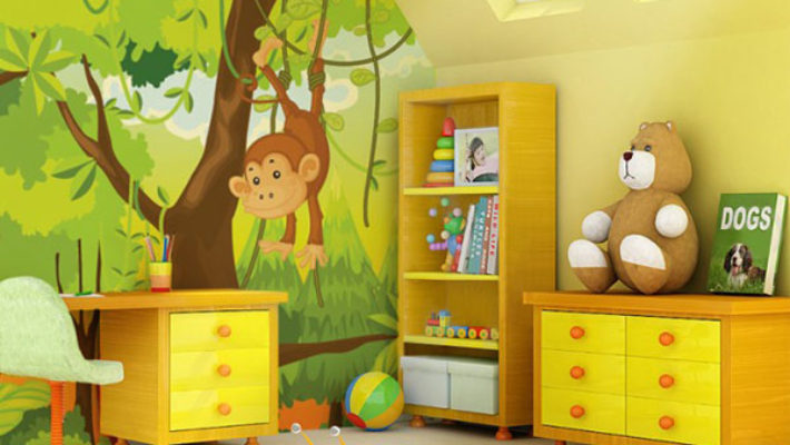 Màu sơn phòng ngủ trẻ em – Không những đẹp mà còn giúp trẻ sáng tạo